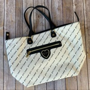 Betsey Johnson Black and White Tote